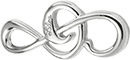 malý stříbrný houslový klíč