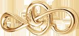 velký pozlacený houslový klíč