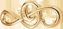 malý pozlacený houslový klíč