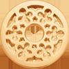 pozlacený ažurový kroužek s čtyřlístkem