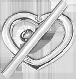 stříbrné zapínání srdce Amour Amour