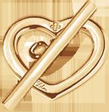 pozlacené zapínání srdce Amour Amour