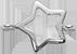 lemovaná stříbrná hvězda 1 cm