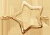 lemovaná zlatá hvězda 1 cm