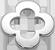 stříbrný lemovaný okrouhlý čtyřlístek 1 cm