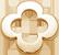 zlatý lemovaný okrouhlý čtyřlístek 1 cm