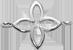lemovaná stříbrná lilie 1 cm