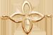 lemovaná pozlacená lilie 1 cm