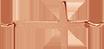 křížek z růžového zlata 1,5 cm