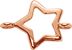 hvězda z růžového zlata 1 cm