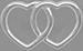 stříbrné lemované propojené srdce 1 cm
