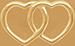 pozlacené lemované propojené srdce 1 cm