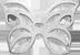 mini stříbrný ažurový motýl