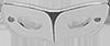 stříbrná maska 2 cm