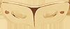 pozlacená maska 2 cm
