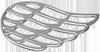 stříbrné lemované křídlo 2 cm
