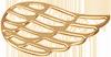 pozlacené lemované křídlo 2 cm