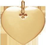 pozlacené srdce 2,7 cm