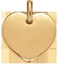 pozlacené srdce 1,5 cm
