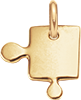 pozlacený dílek puzzlík 2 cm