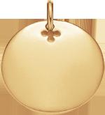 pozlacený medailon 2 cm