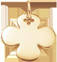 kulatý pozlacený čtyřlístek 2 cm