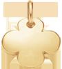 kulatý pozlacený čtyřlístek 1,5 cm