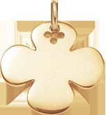 kulatý pozlacený čtyřlístek 2,7 cm