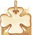pozlacený čtyřlístek 2 cm