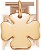 pozlacený čtyřlístek 1,5 cm