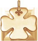 pozlacený čtyřlístek 2,7 cm