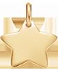 pozlacená hvězdička 1,5 cm