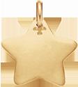 pozlacená hvězdička 2 cm
