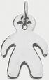 stříbrný medailon s chlapcem 2 cm