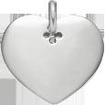 stříbrné srdce 2 cm