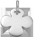 kulatý stříbrný čtyřlístek 2 cm