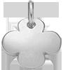 kulatý stříbrný čtyřlístek 1,5 cm