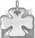 stříbrný čtyřlístek 2 cm