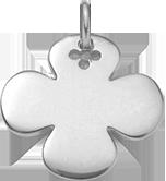 kulatý stříbrný čtyřlístek 2,7 cm