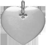 stříbrné srdce 2,7 cm