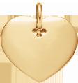 pozlacené srdce 2 cm