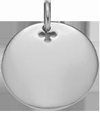 stříbrný medailon 2,7 cm