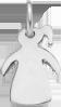 stříbrná dívka s jedním culíkem 1,5 cm