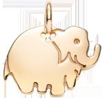 pozlacený slon 2 cm
