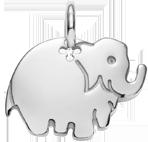 stříbrný slon 2 cm
