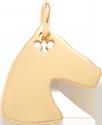 pozlacený kůň