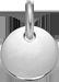 stříbrný medailon 1 cm