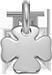 stříbrný čtyřlístek 1 cm