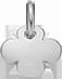 kulatý stříbrný čtyřlístek 1 cm