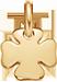 pozlacený čtyřlístek 1 cm